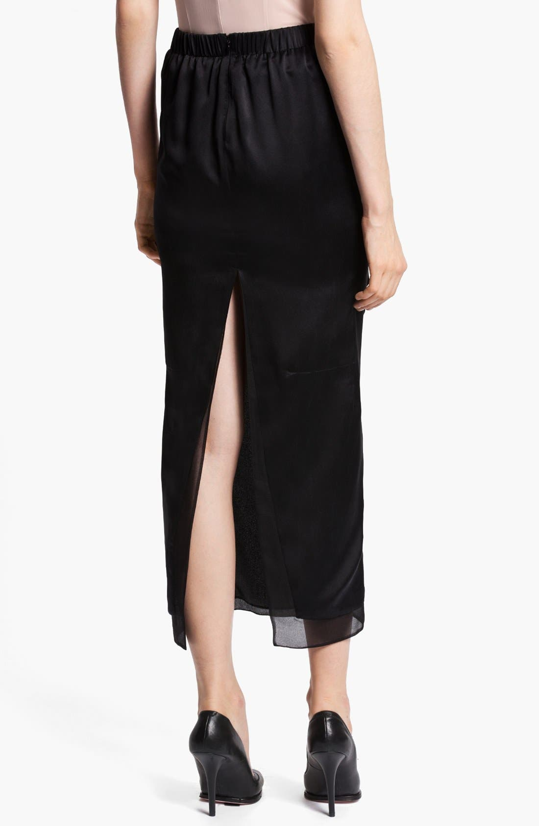 Alternate Image 3  - Nina Ricci Long Satin Skirt