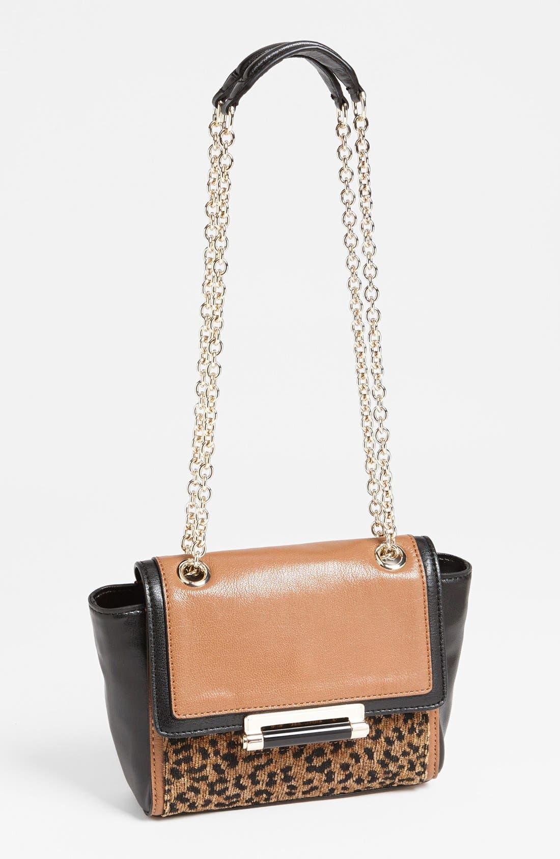 Main Image - Diane von Furstenberg '440 - Mini' Leopard Jacquard Crossbody Bag