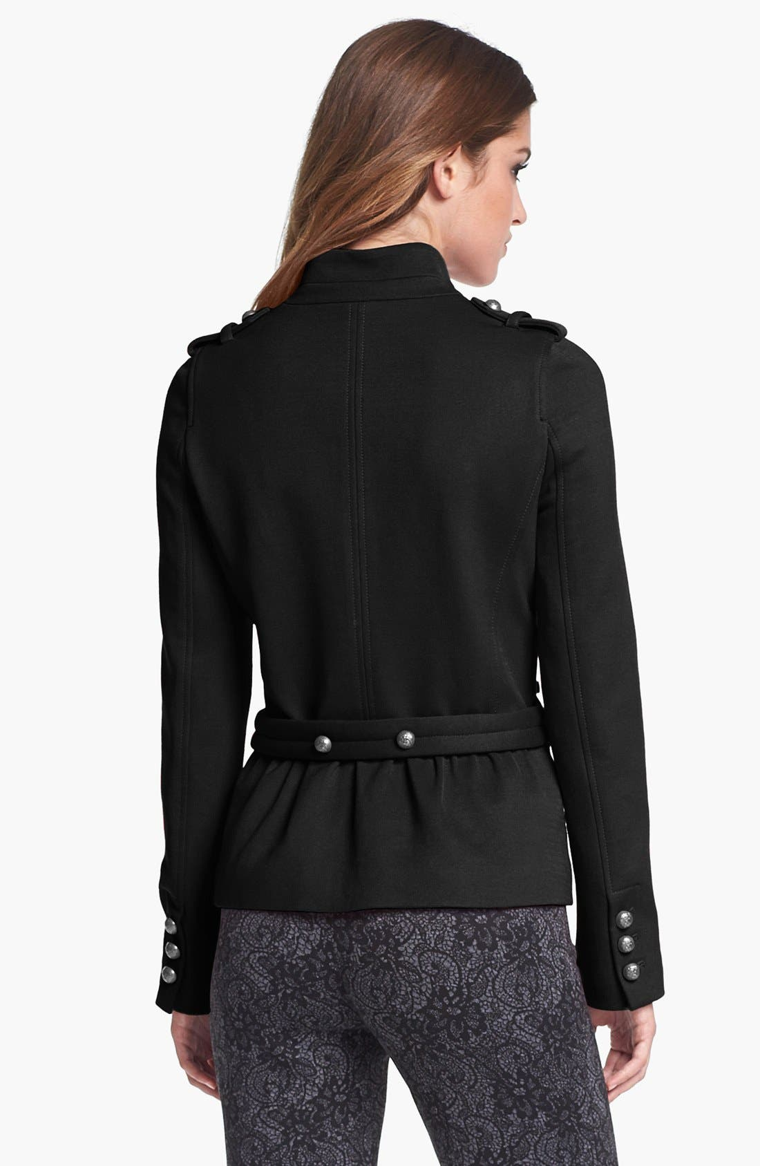 Alternate Image 2  - Vince Camuto Military Ponte Peplum Jacket (Petite) (Nordstrom Exclusive)