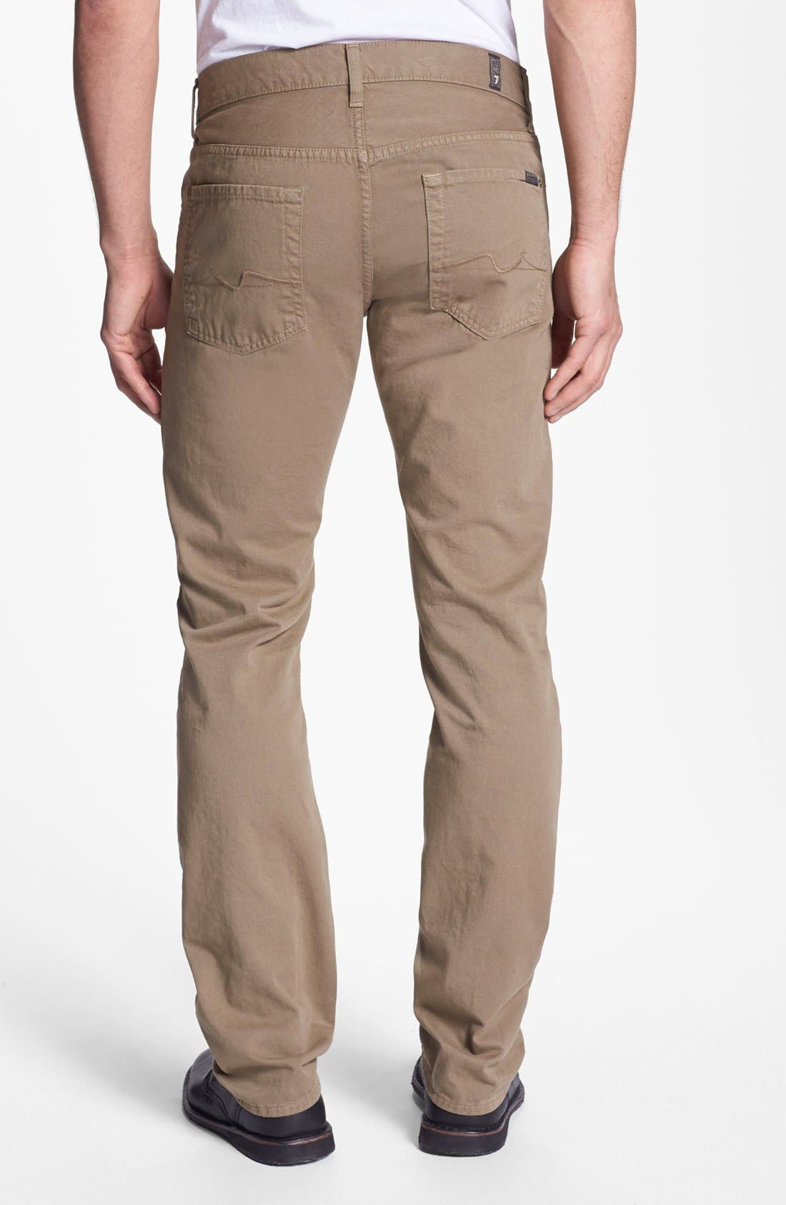 Main Image - 7 For All Mankind® 'Slimmy' Slim Fit Jeans (Dark Khaki)