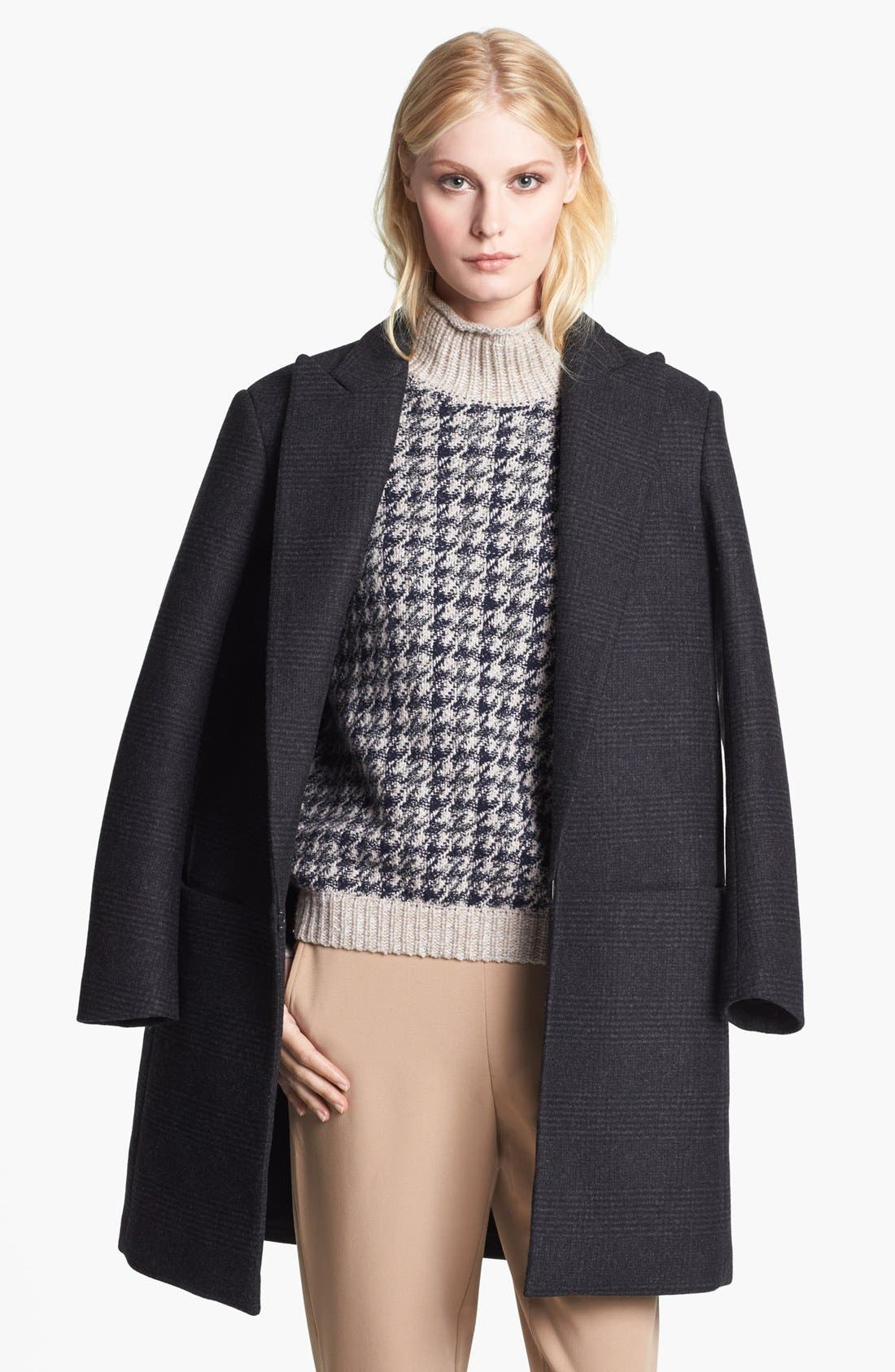 'Elibeth' Wool Blend Coat,                             Main thumbnail 1, color,                             Dark Charcoal