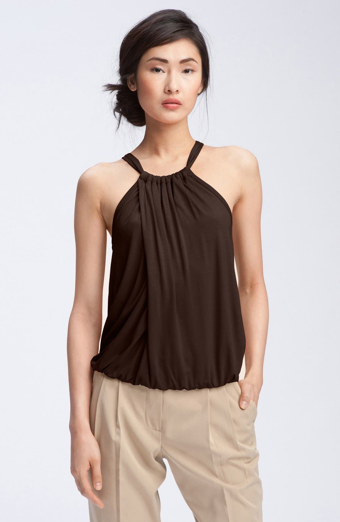 Alternate Image 1 Selected - Trina Turk 'Imma' Draped Halter Top