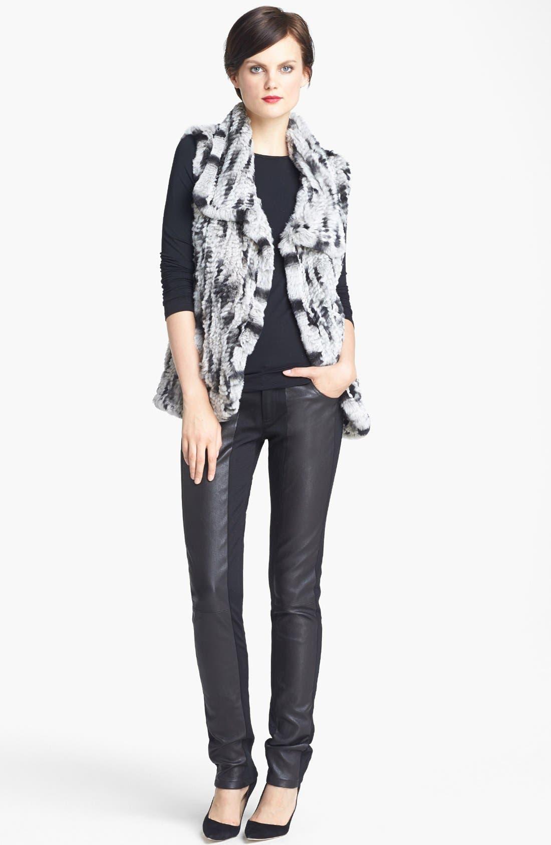Alternate Image 2  - Alice + Olivia 'Celine' Sleeveless Genuine Rabbit Fur Vest