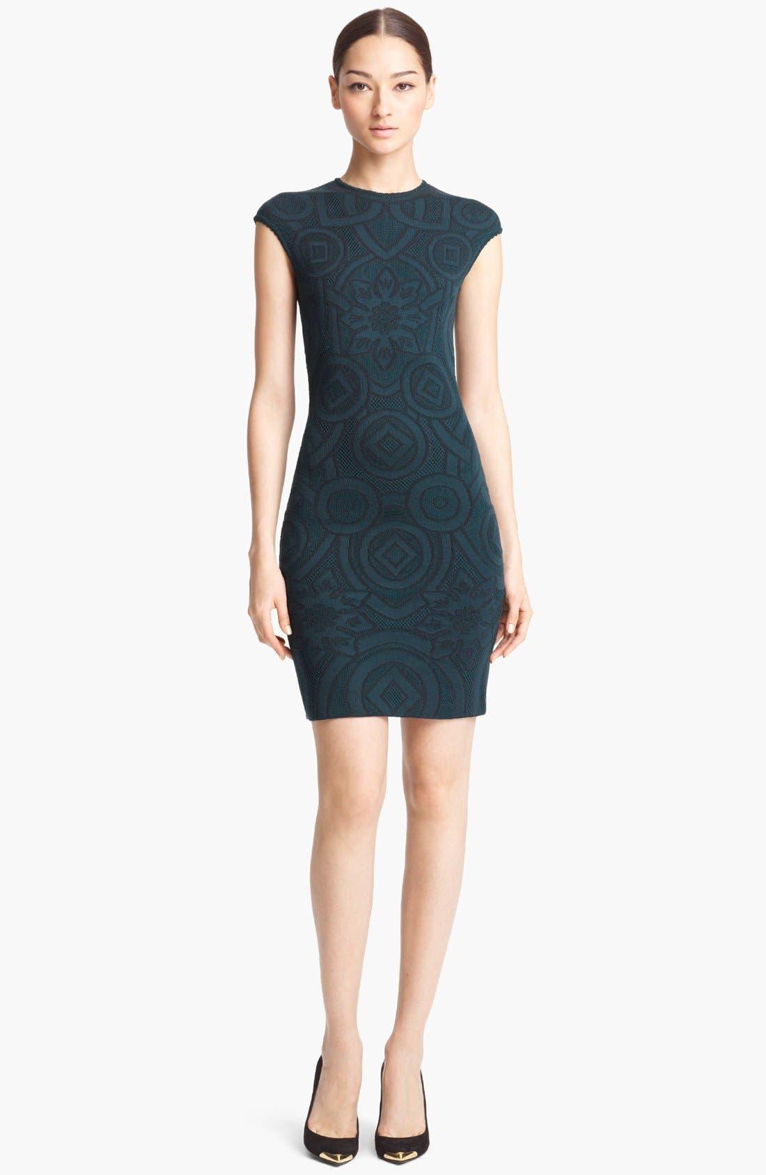 Alternate Image 1 Selected - Alexander McQueen Jacquard Dress