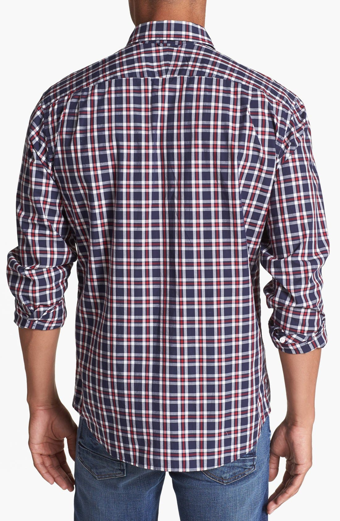 Alternate Image 3  - Lacoste Slim Fit Plaid Shirt