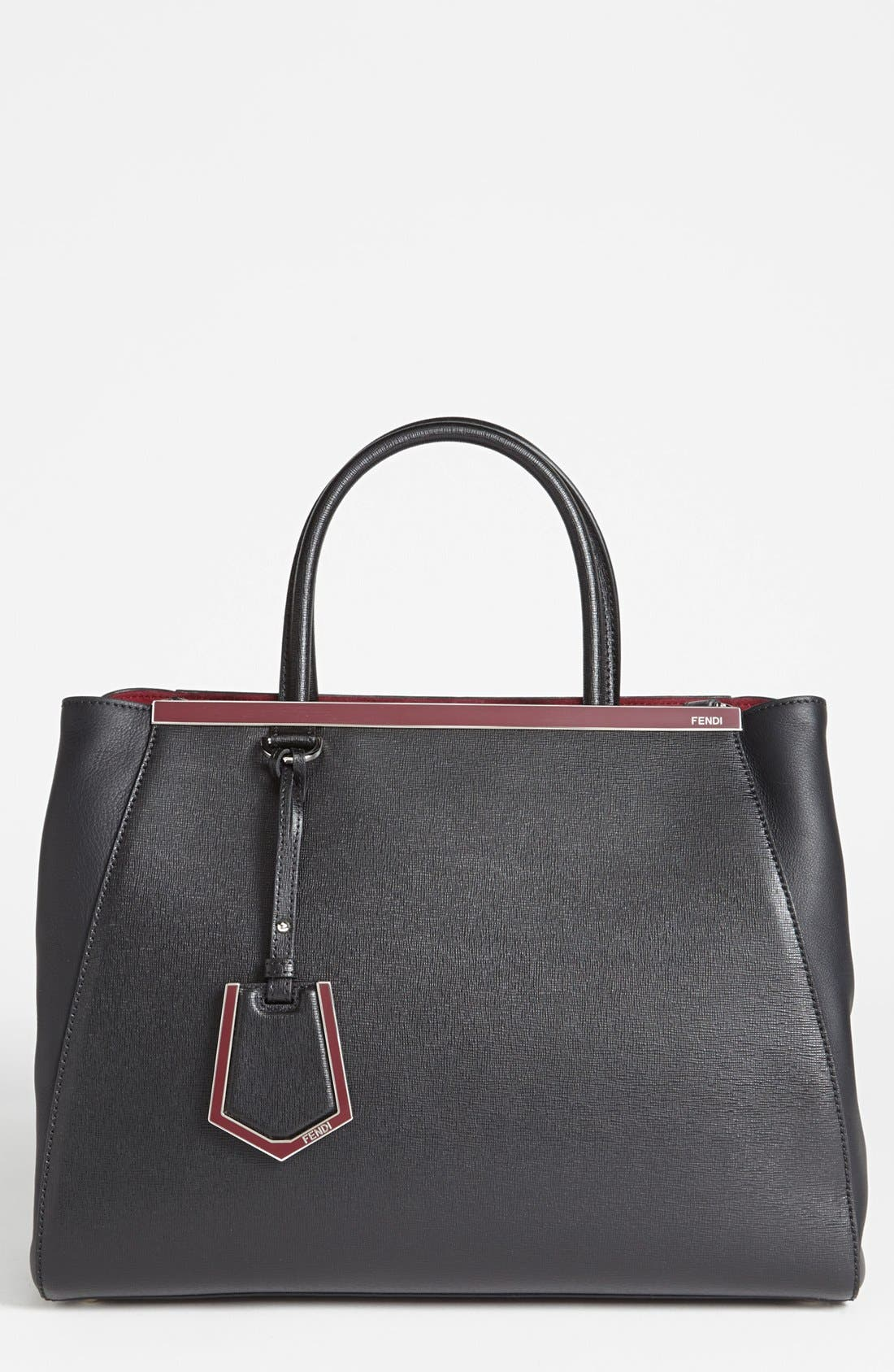Alternate Image 1 Selected - Fendi '2Jours- Medium' Leather Shopper