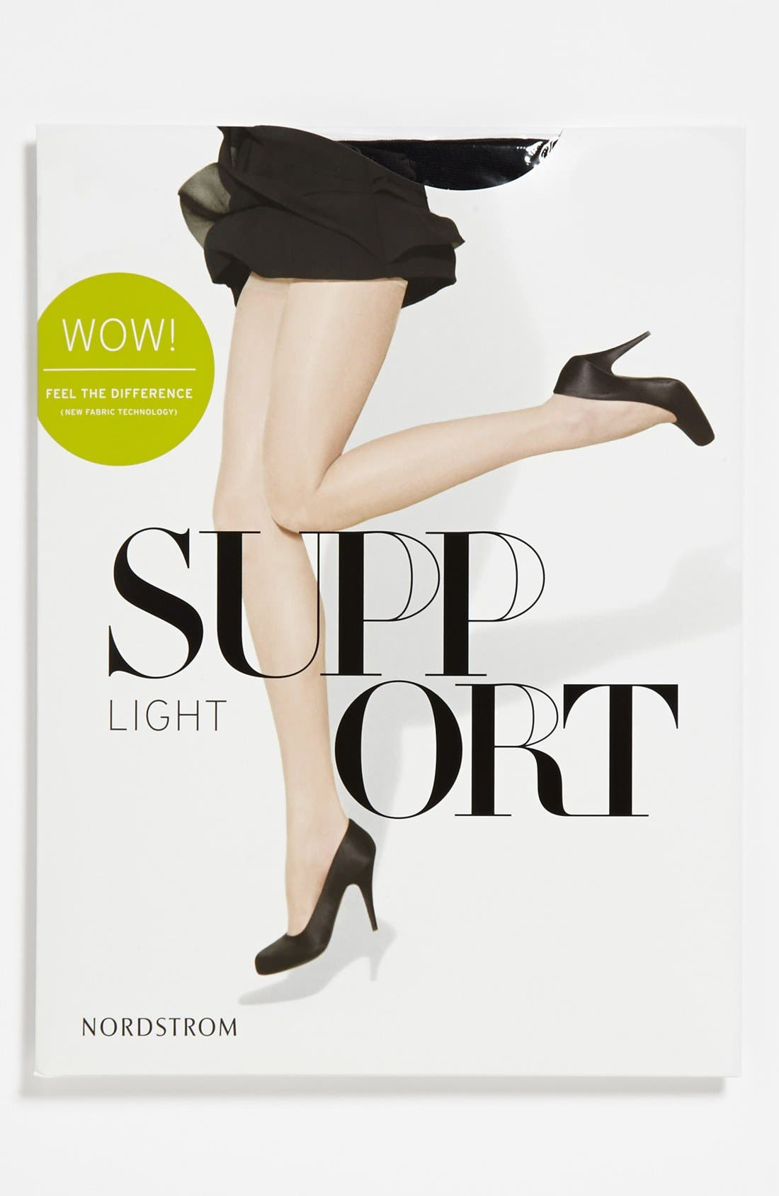 Alternate Image 2  - Nordstrom Light Support Sheer Control Top Pantyhose