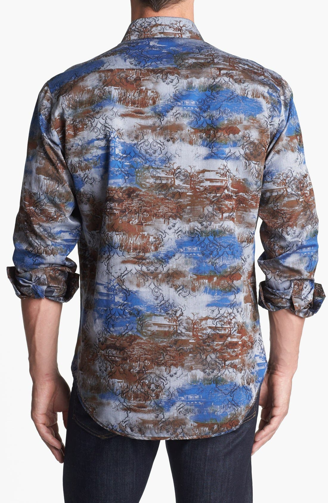 Alternate Image 3  - Robert Graham Reversible 'Spitfire' Regular Fit Sport Shirt (Limited Edition)