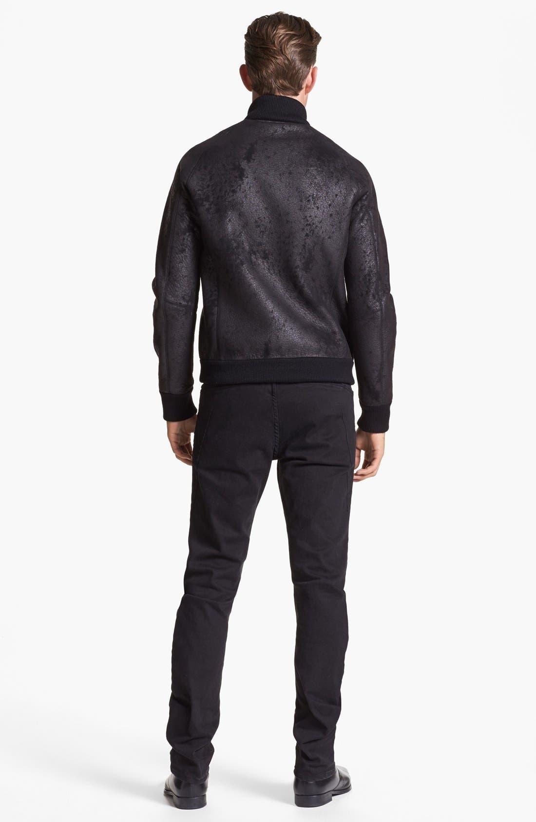 Alternate Image 6  - Kenneth Cole Collection Slim Fit Jeans (Black)