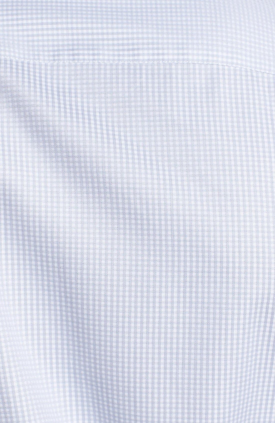 Alternate Image 3  - Z Zegna Slim Fit Microcheck Woven Shirt