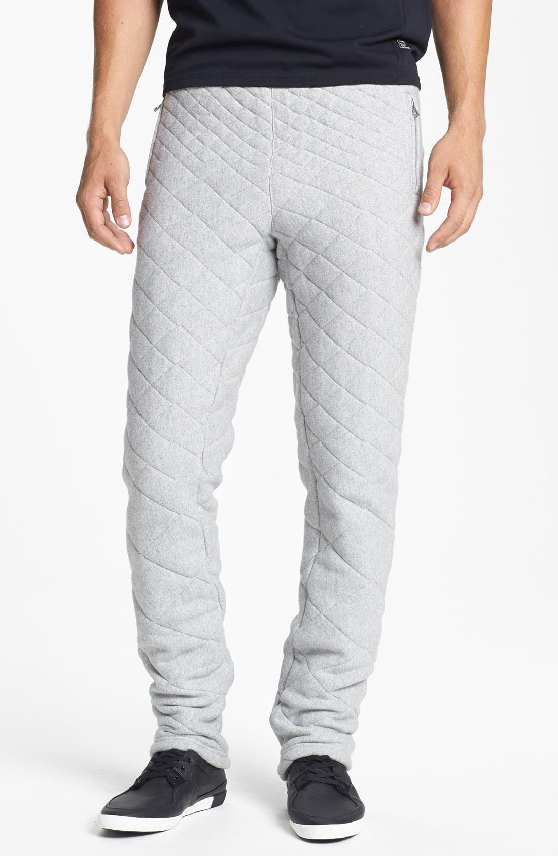 Main Image - adidas SLVR Quilted Fitted Pants
