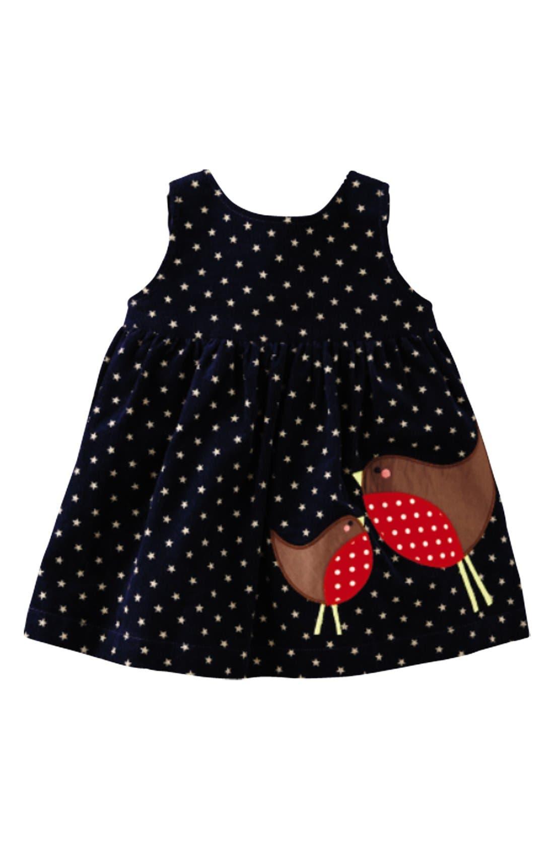 Main Image - Mini Boden Appliqué Dress (Baby Girls)