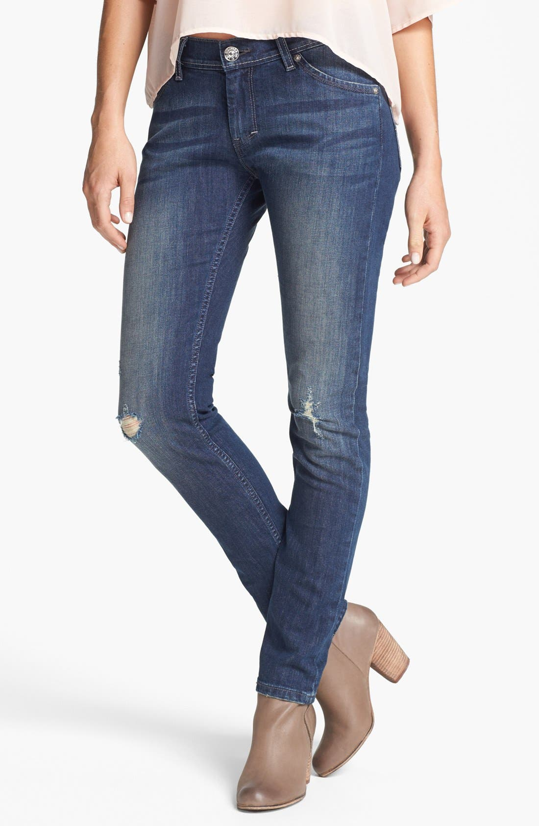 Alternate Image 1 Selected - Levi's® 'XP' Boyfriend Skinny Jeans (Miners Blue)