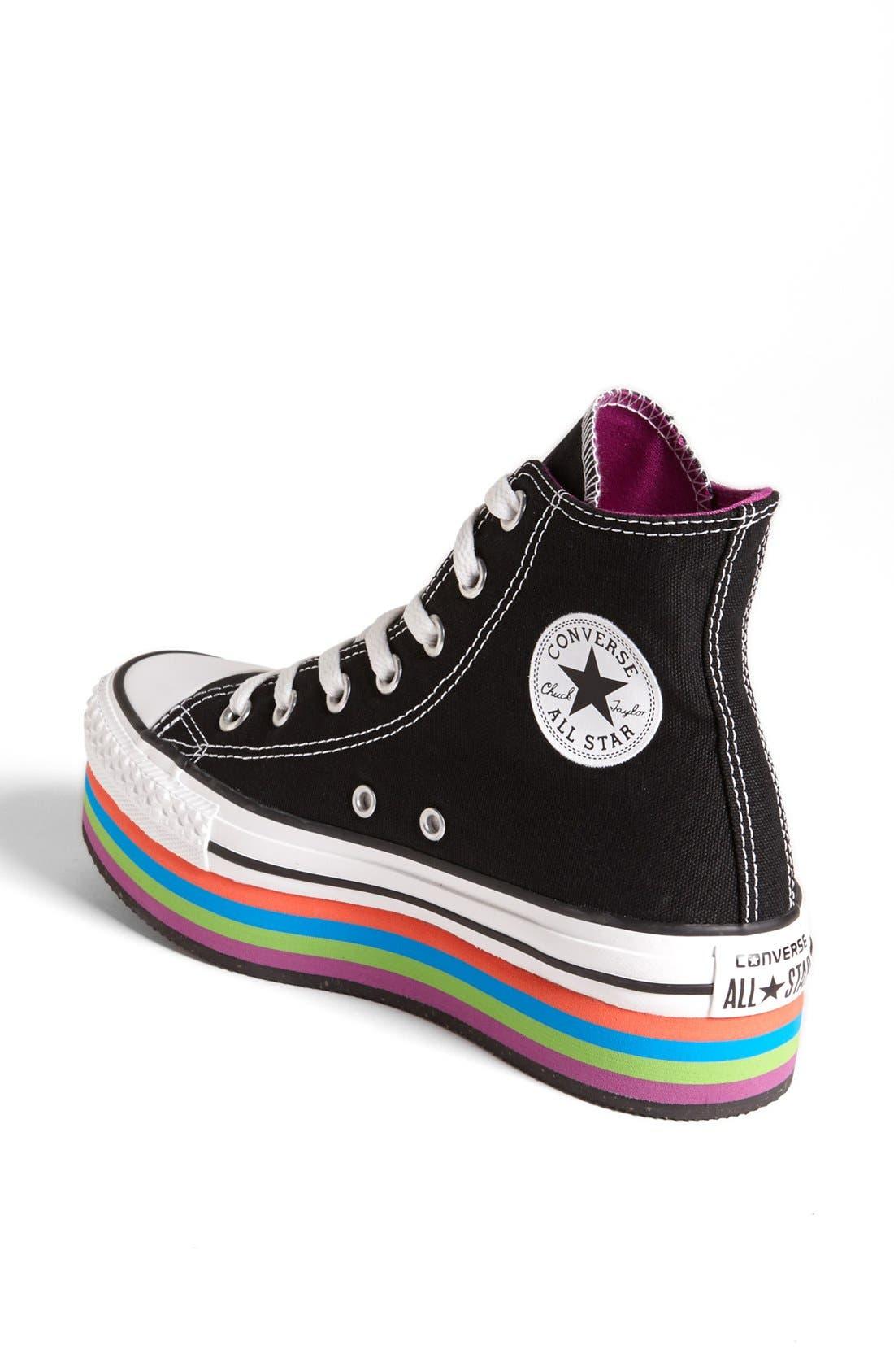 Alternate Image 2  - Converse Chuck Taylor® All Star® Platform High Top Sneaker (Women)