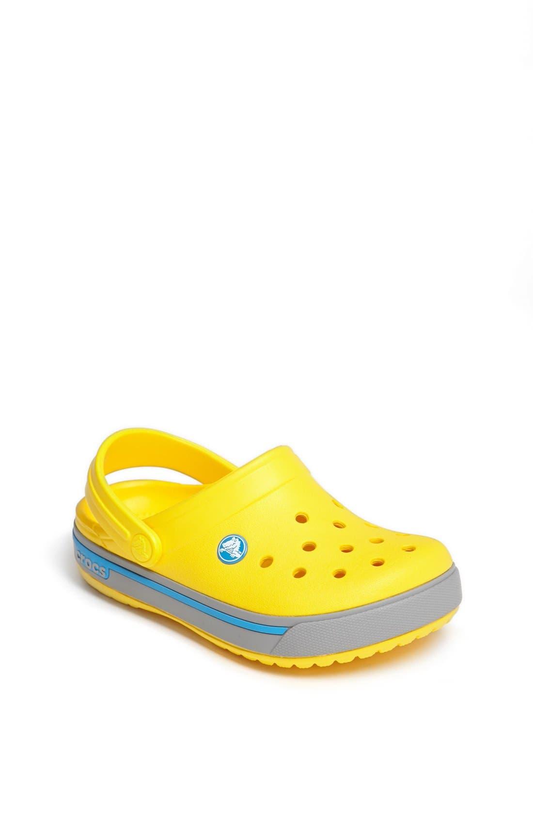 Alternate Image 1 Selected - CROCS™ 'Crocband II.5' Slip-On (Walker, Toddler & Little Kid)