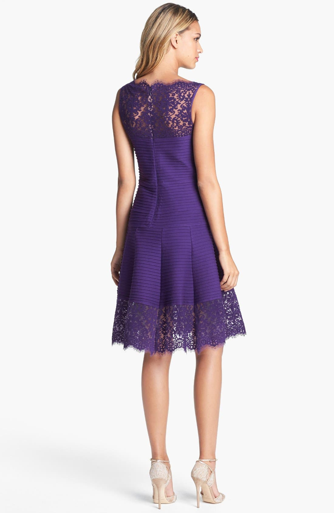 Alternate Image 2  - Tadashi Shoji Matte A-Line Jersey Dress