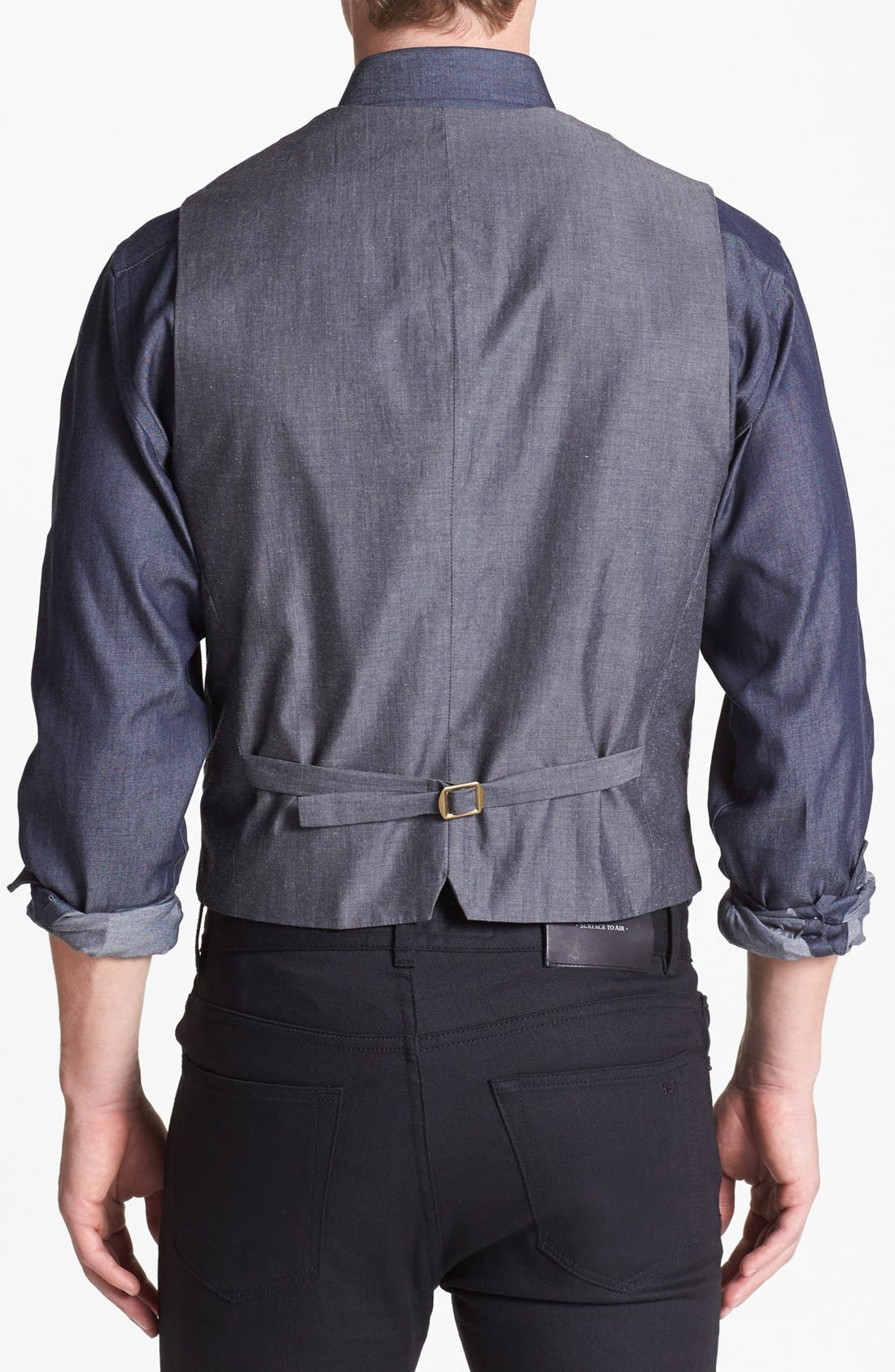 Alternate Image 2  - Wallin & Bros. Trim Fit Houndstooth Vest