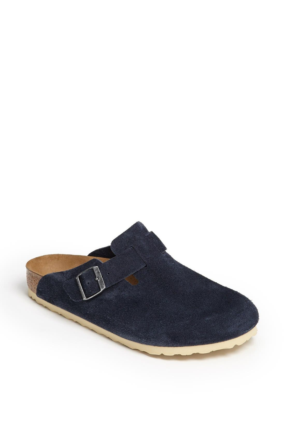 Alternate Image 1 Selected - Birkenstock 'Boston Soft' Suede Clog (Men)