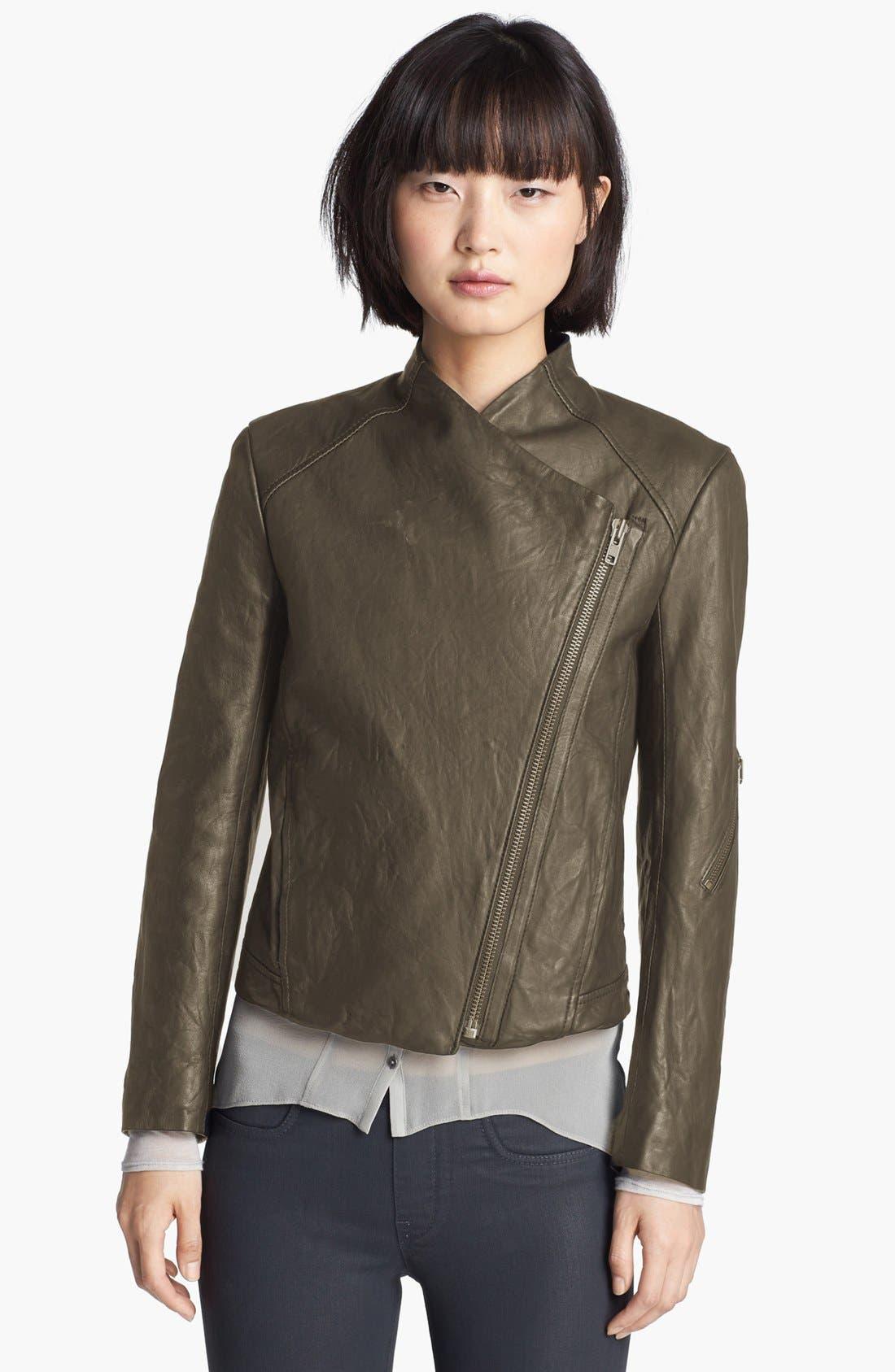 Alternate Image 3  - HELMUT Helmut Lang Washed Leather Moto Jacket