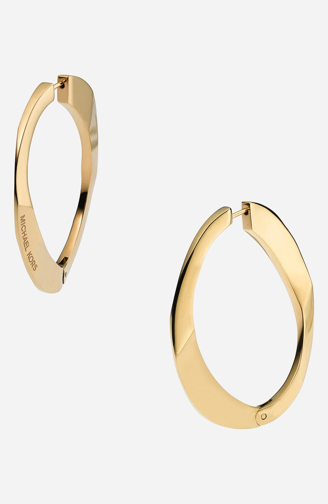 Alternate Image 1 Selected - Michael Kors Curb Link Hoop Earrings