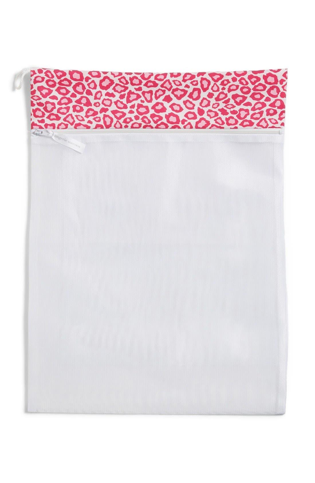 Main Image - Nordstrom Intimates Leopard Trim Lingerie Wash Bag