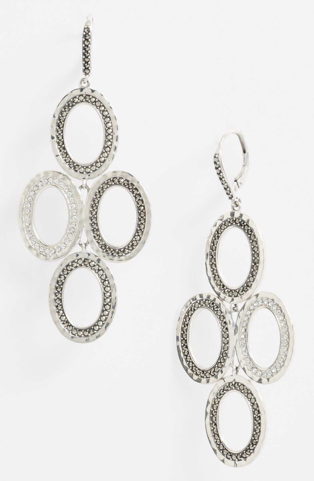 Alternate Image 1 Selected - Judith Jack 'Halo' Oval Chandelier Earrings
