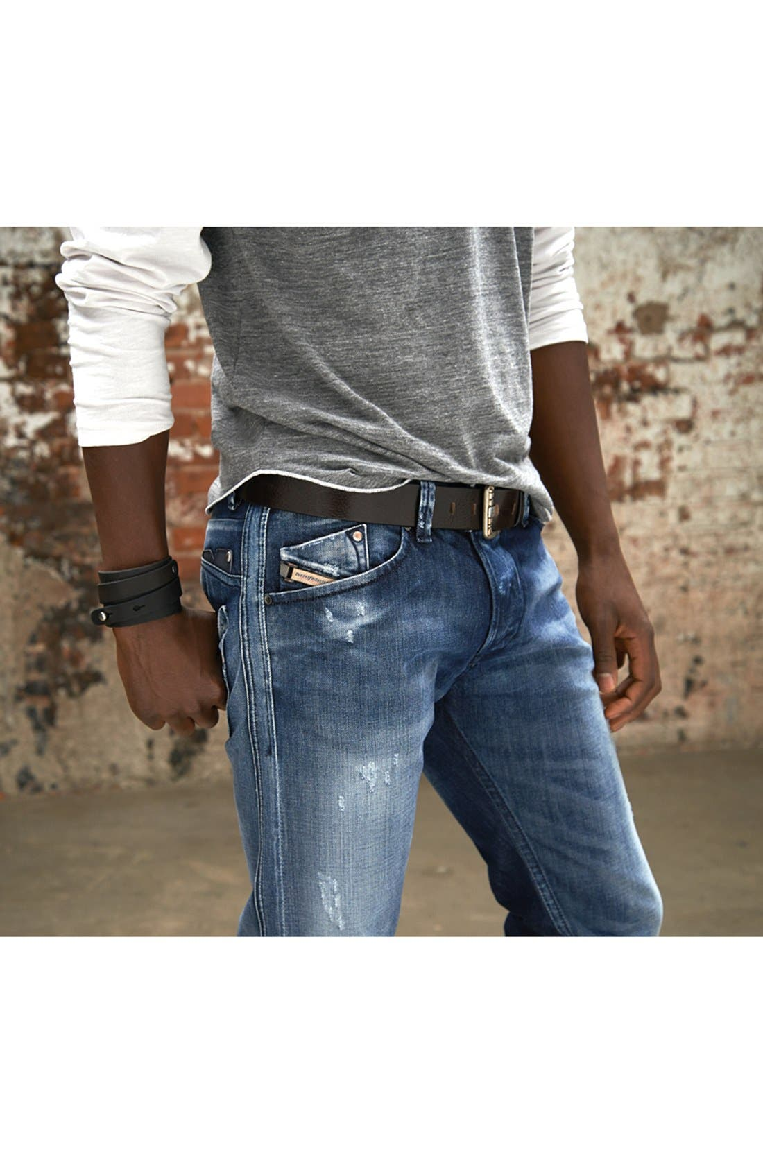 Alternate Image 5  - DIESEL® 'Darron' Slim Fit Jeans (0810L)