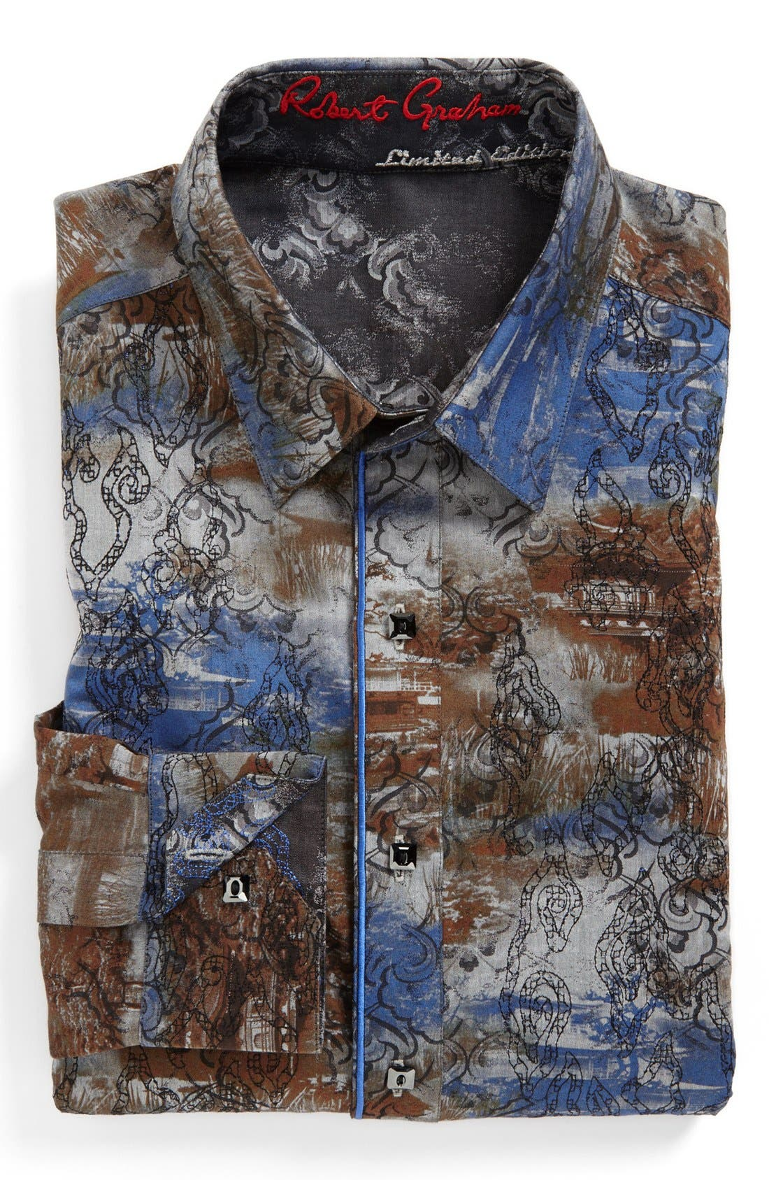Alternate Image 2  - Robert Graham Reversible 'Spitfire' Regular Fit Sport Shirt (Limited Edition)