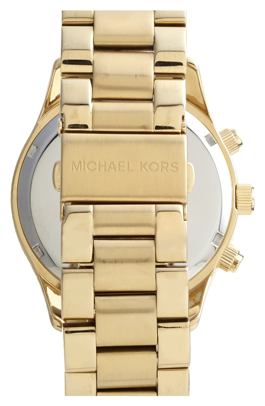 Alternate Image 2  - Michael Kors 'Layton' Pavé Dial Bracelet Watch, 44mm