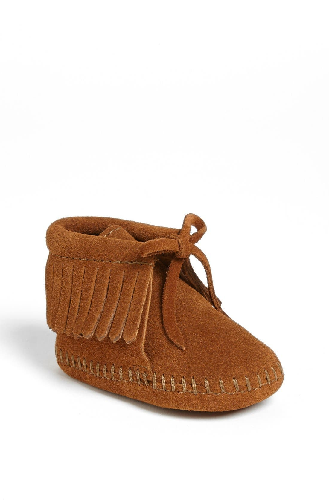 Alternate Image 1 Selected - Minnetonka Fringe Bootie (Baby & Walker)