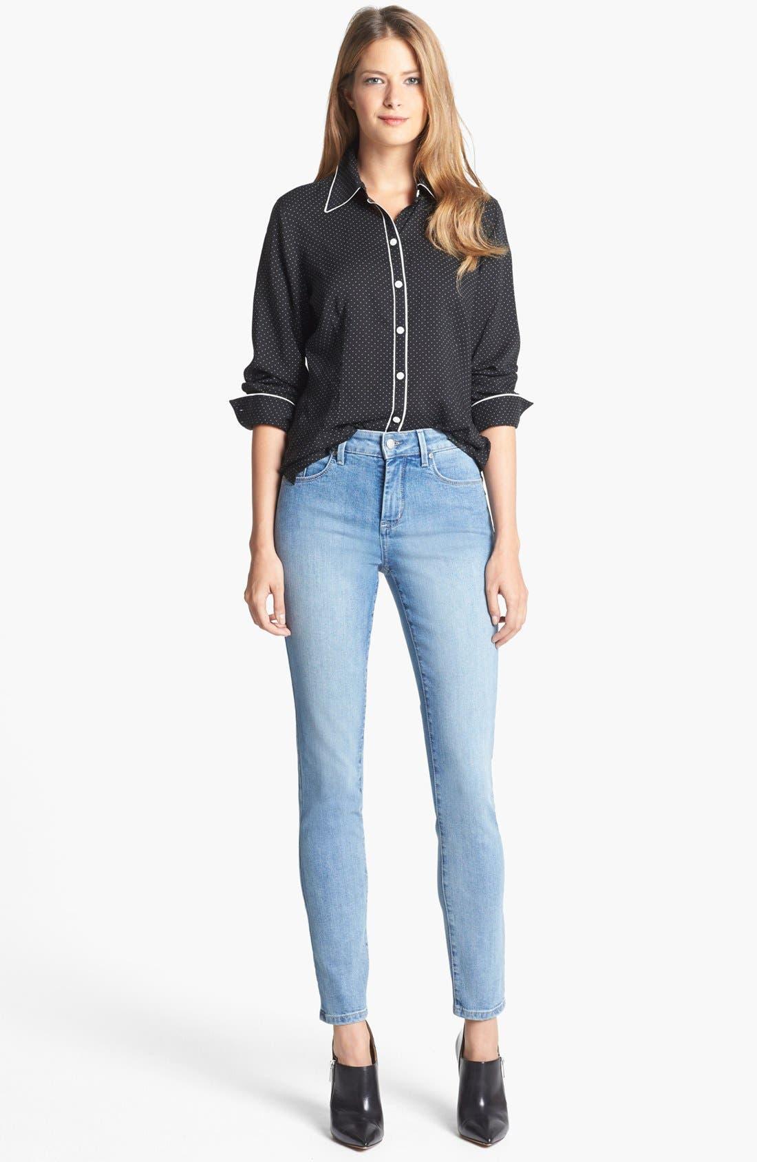 Alternate Image 2  - NYDJ 'Alina' Stretch Skinny Jeans (Sacramento) (Petite)