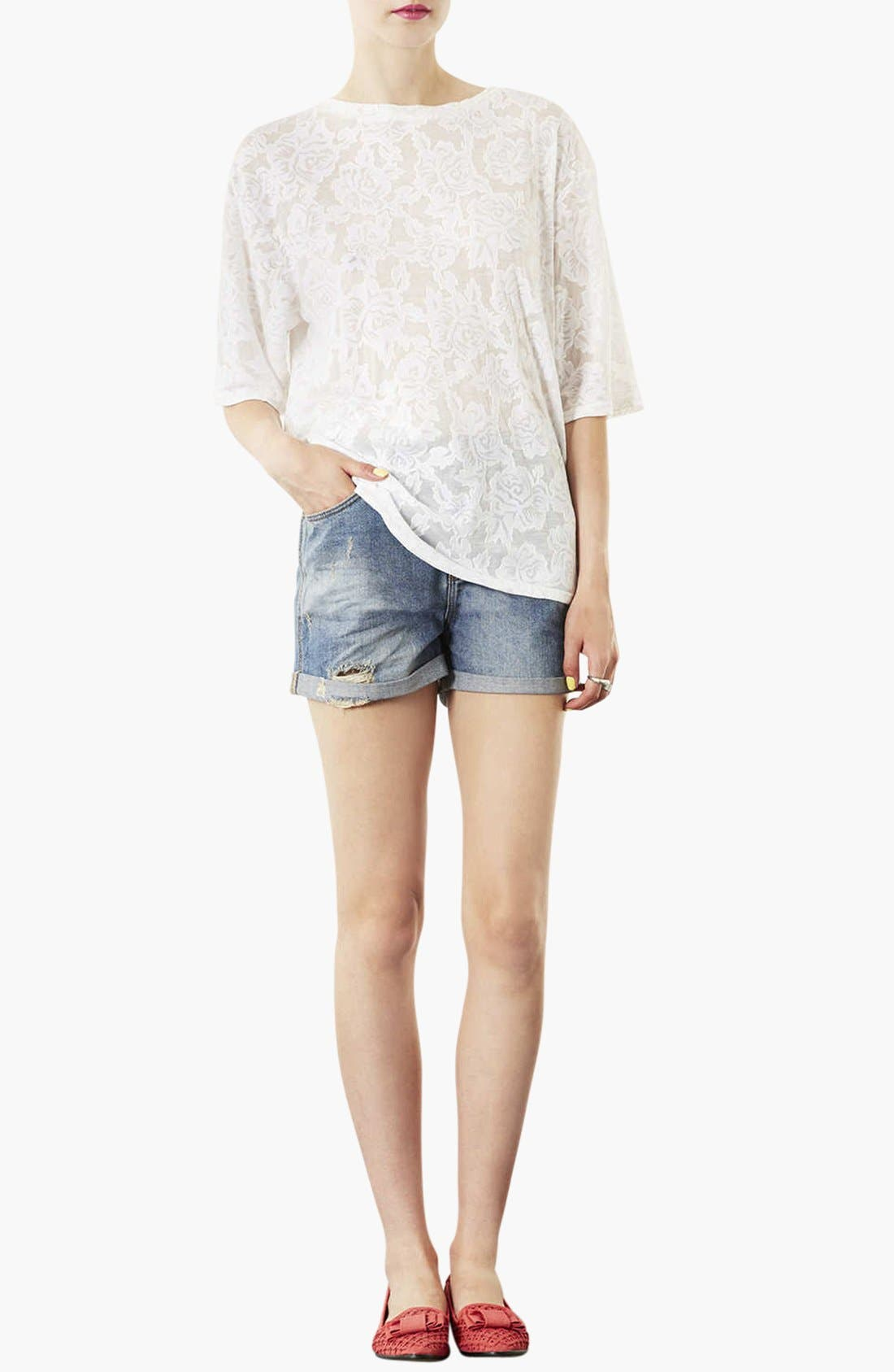Alternate Image 3  - Topshop Moto 'Dirty Boy' Distressed Denim Shorts