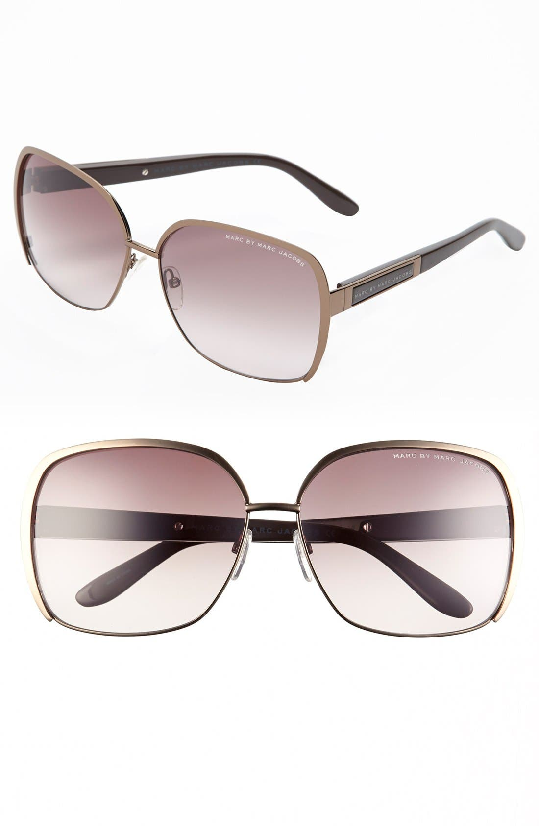 Main Image - MARC BY MARC JACOBS 61mm Retro Sunglasses