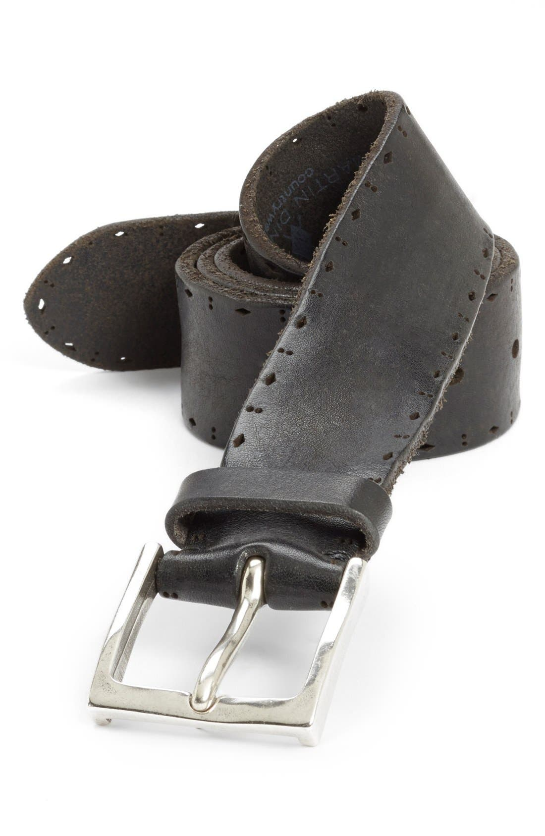 Alternate Image 1 Selected - Martin Dingman 'Hayden' Bridle Leather Belt
