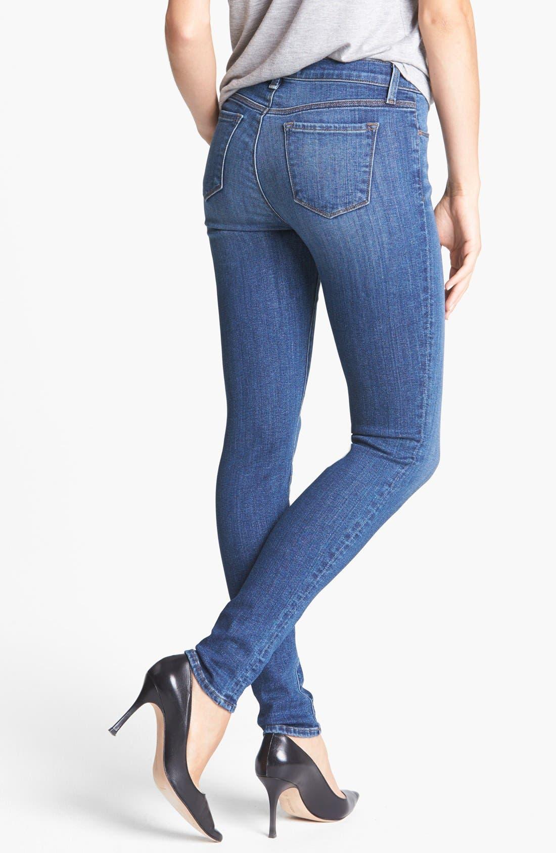 Alternate Image 2  - J Brand '620' Mid-Rise Skinny Jeans (Refuge)