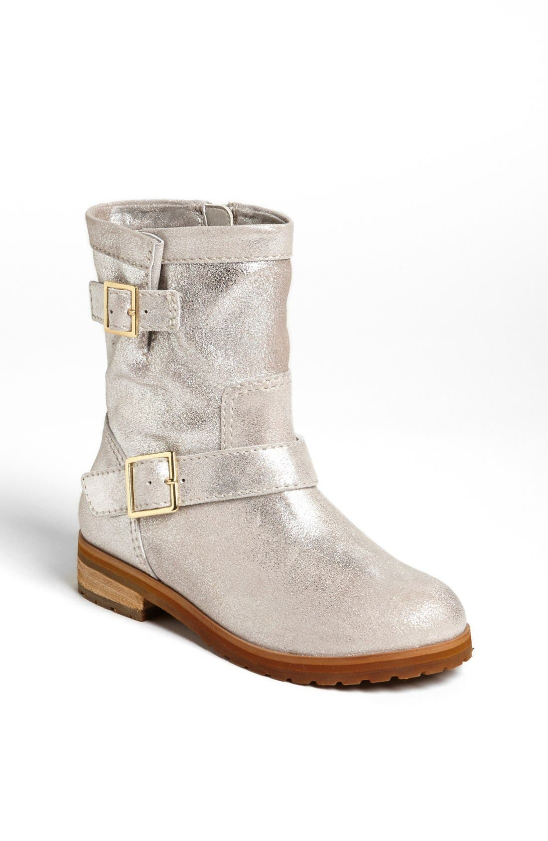 Alternate Image 1 Selected - Peek 'Farraria' Moto Boot (Walker, Toddler, Little Kid & Big Kid)