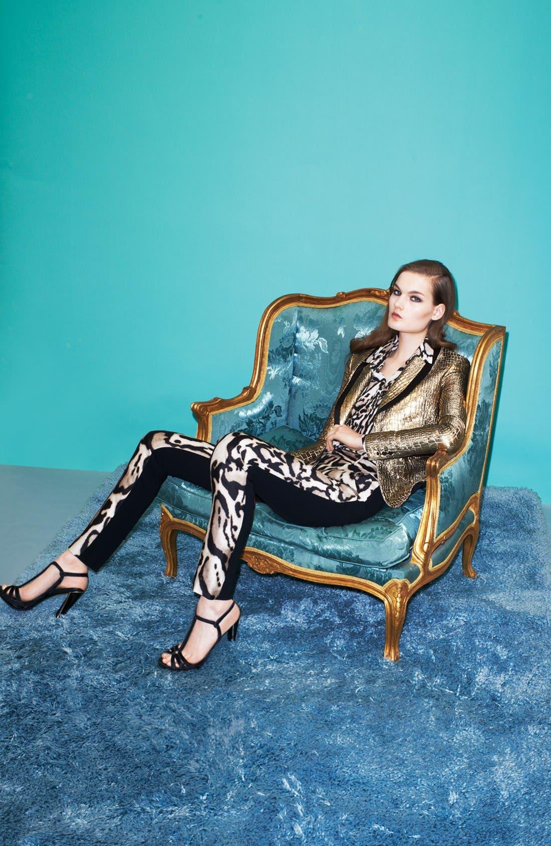 Alternate Image 4  - Diane von Furstenberg 'Ofelia' Metallic Blazer