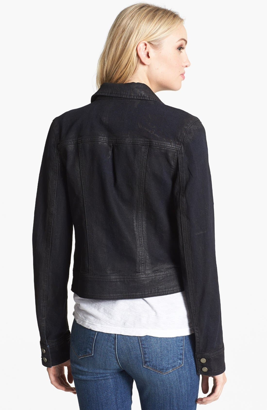 Alternate Image 2  - Paige Denim 'Brooklyn' Denim Moto Jacket