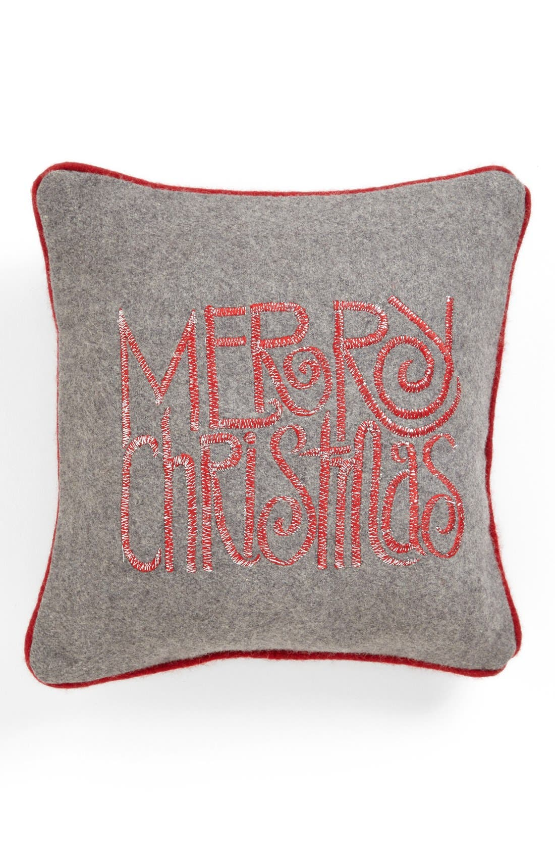 Alternate Image 1 Selected - Shiraleah 'Merry Christmas' Square Pillow
