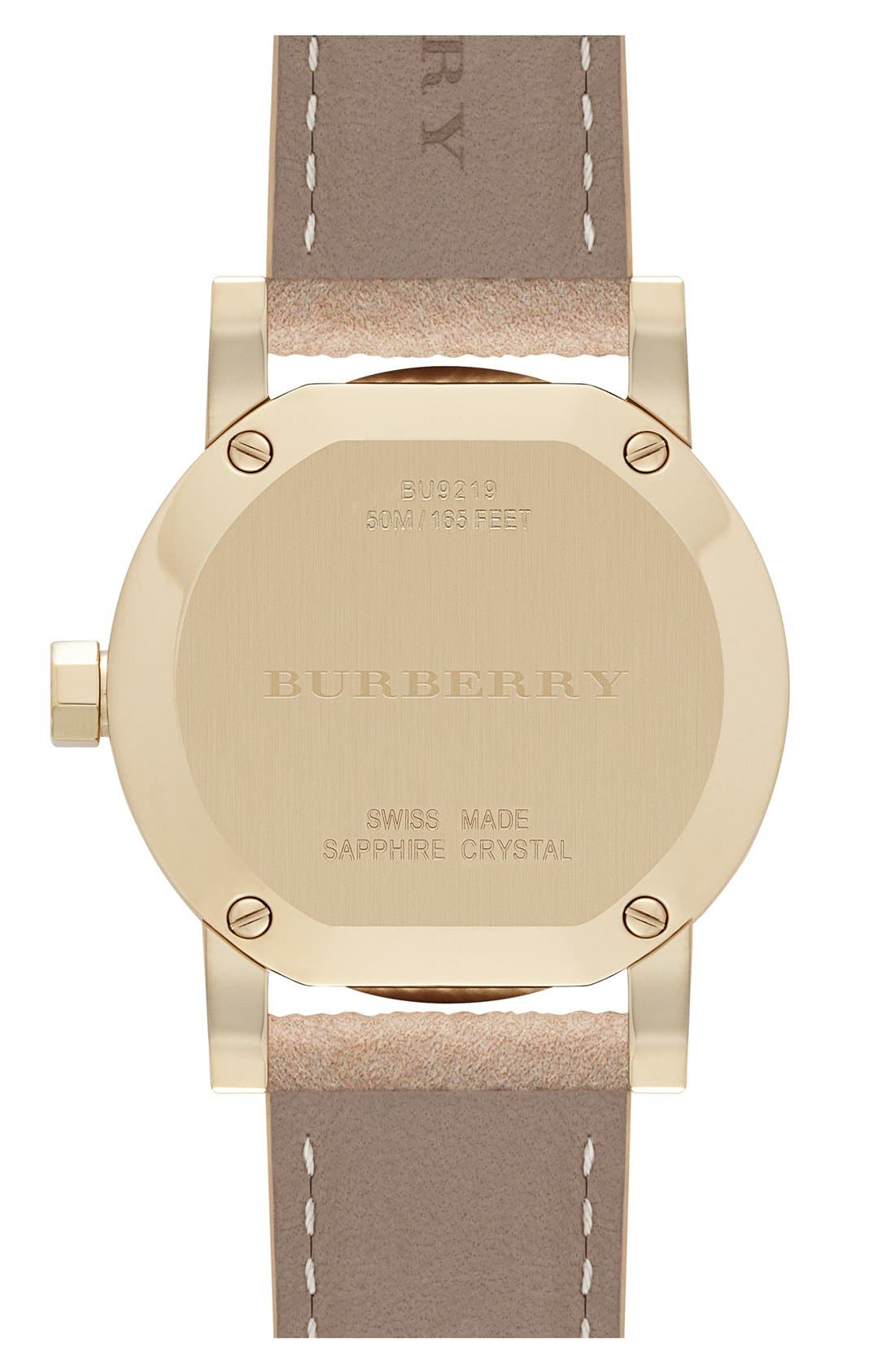 Alternate Image 2  - Burberry Small Check Strap Watch, 26mm