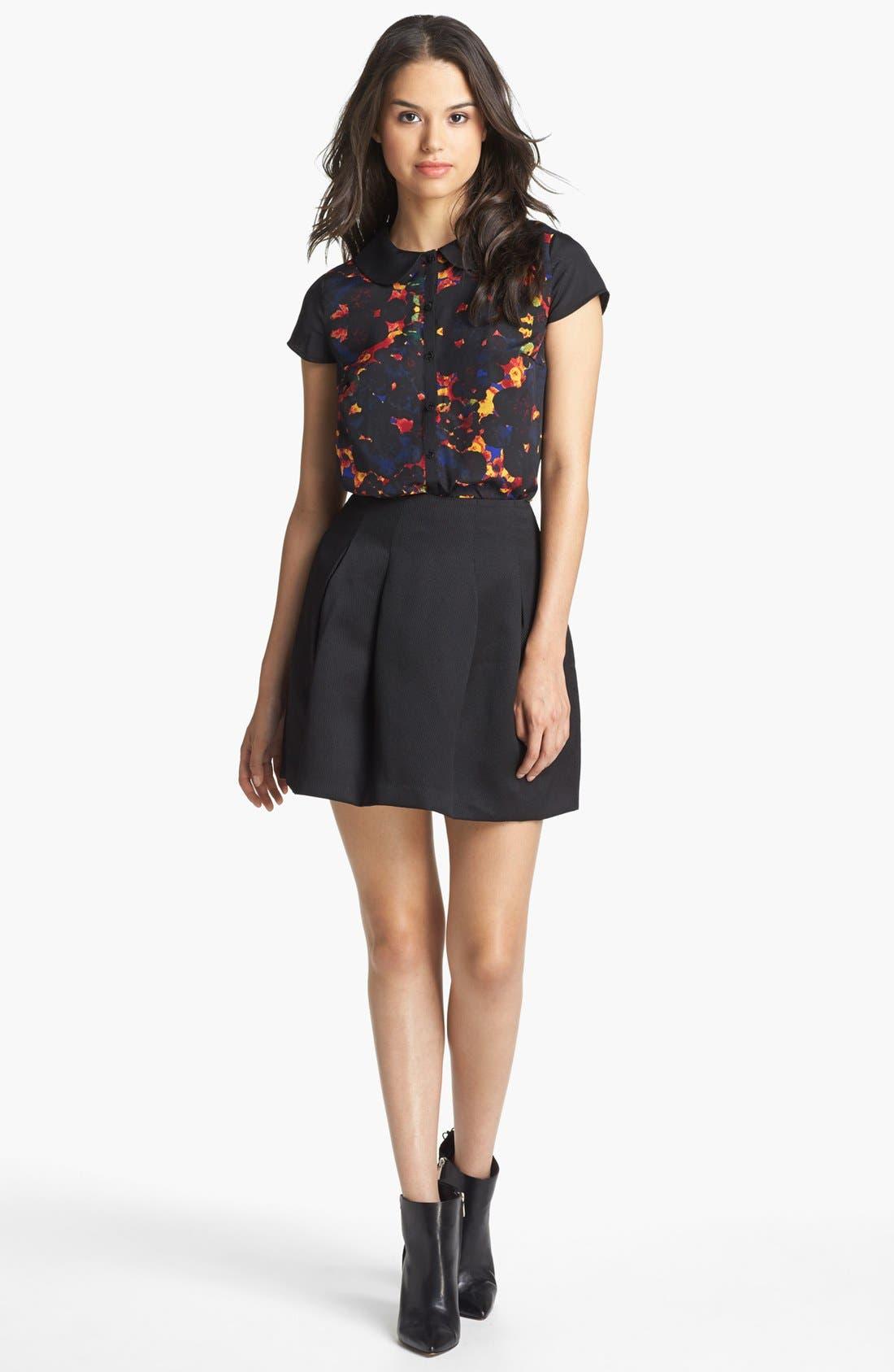 Main Image - Kensie Blouse & Miniskirt