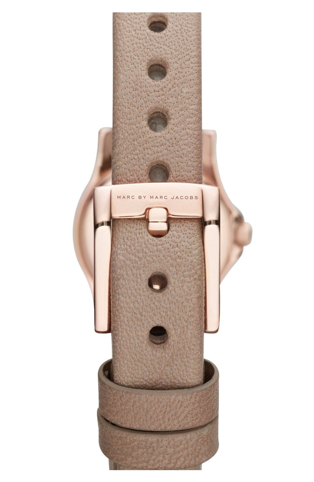 'Henry Dinky' Leather Strap Watch,                             Alternate thumbnail 2, color,                             Gingersnap/ Rose Gold