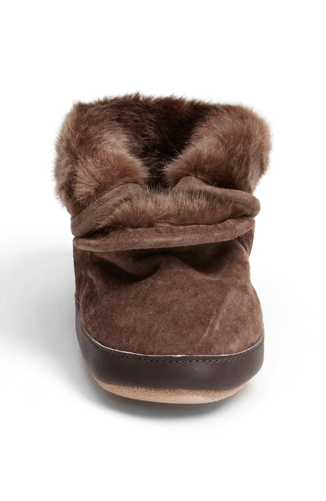 'Cozy' Ankle Bootie,                             Alternate thumbnail 3, color,                             Brown