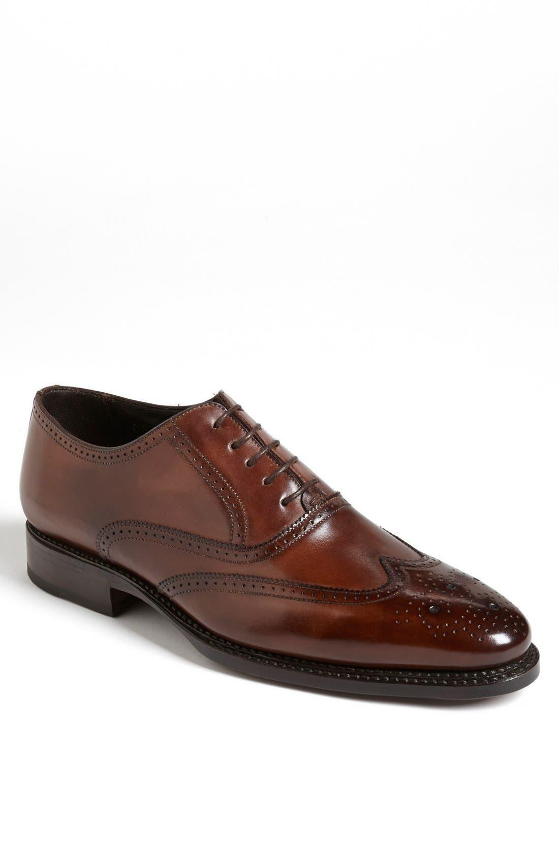 Alternate Image 1 Selected - Canali Leather Wingtip (Men)