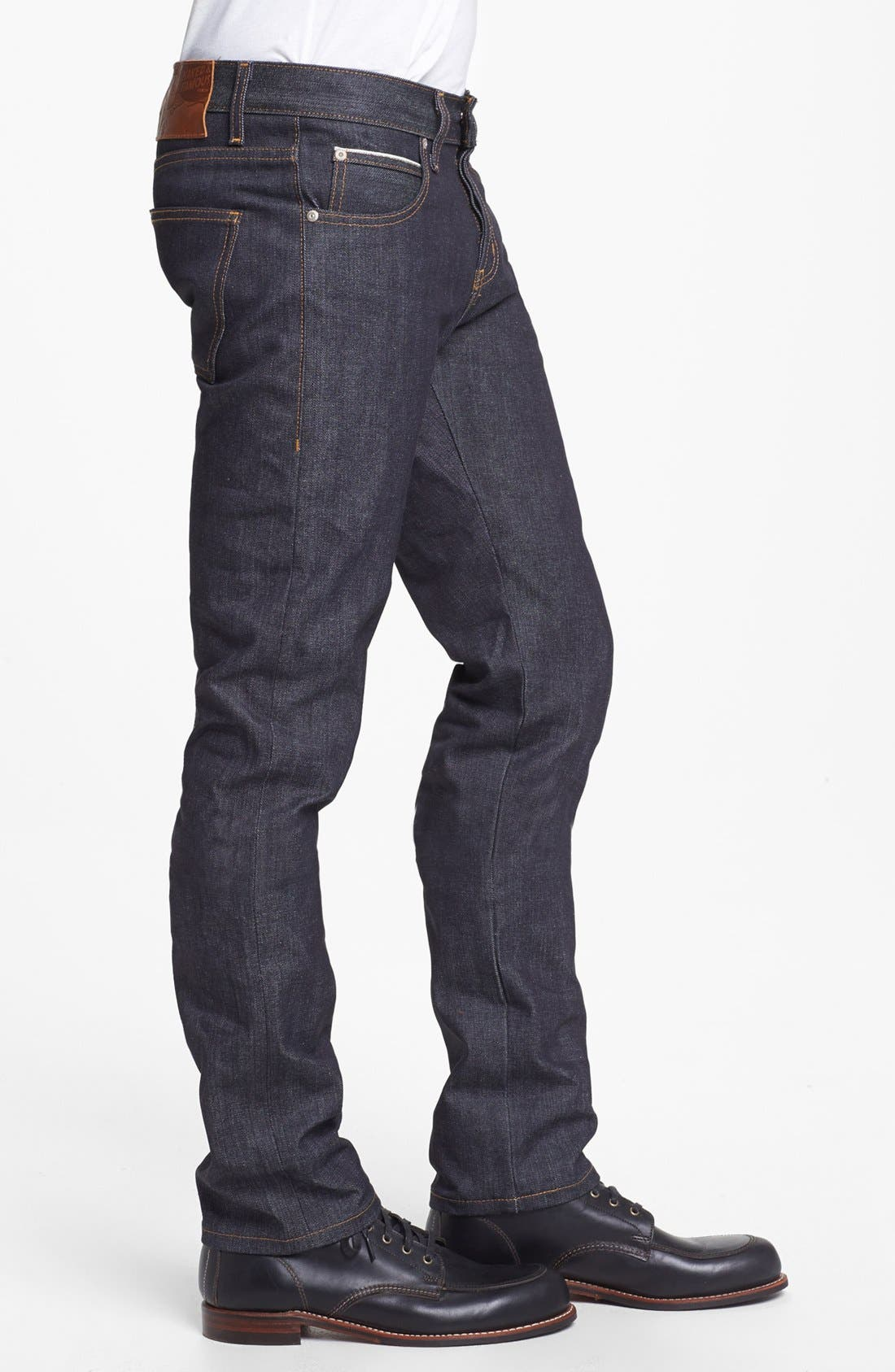 Alternate Image 3  - Naked & Famous Denim Super Skinny Guy Skinny Fit Raw Selvedge Jeans (Left Hand Twill Selvedge)