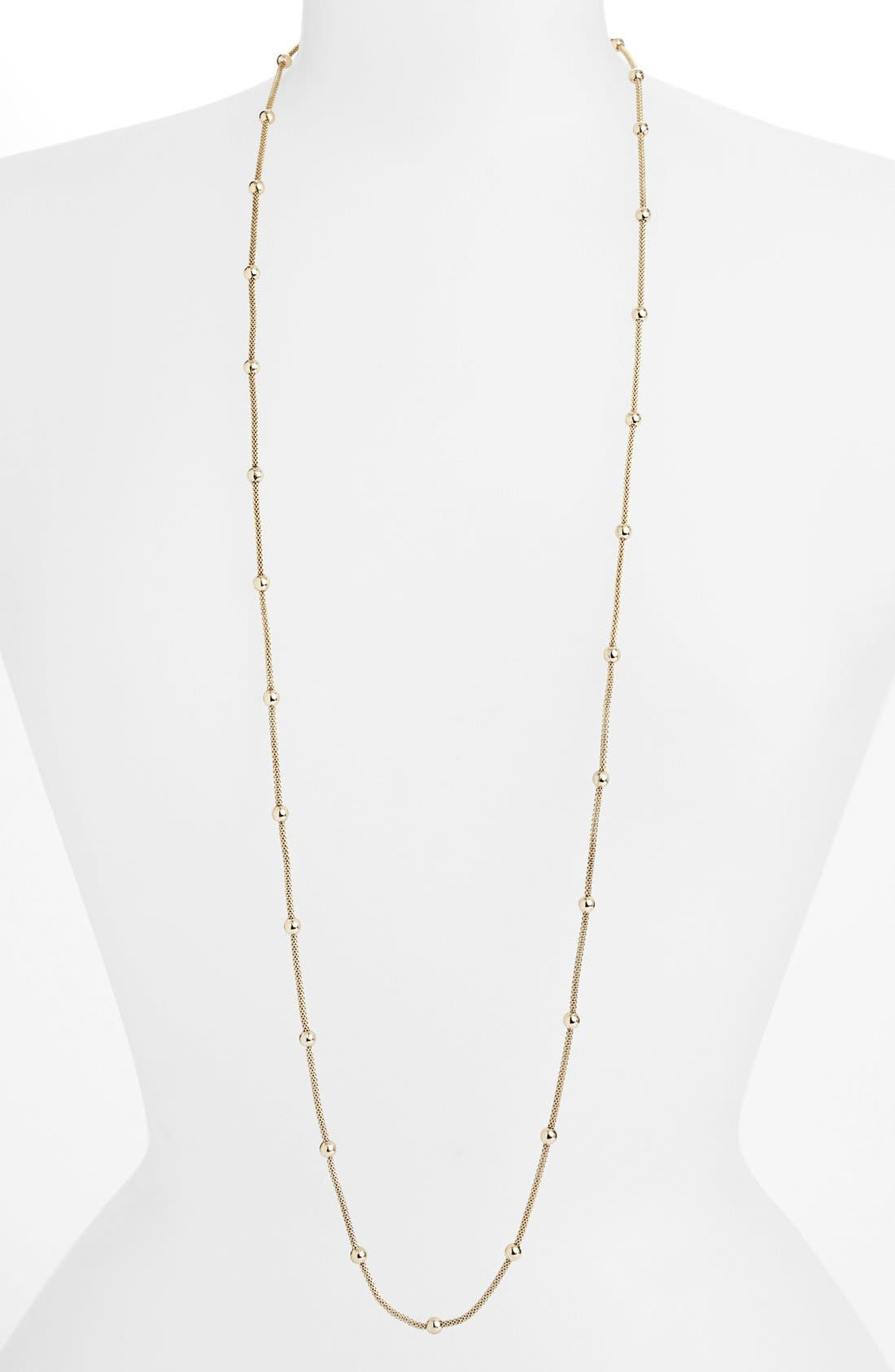Alternate Image 1 Selected - Anne Klein Bead Station Long Mesh Necklace