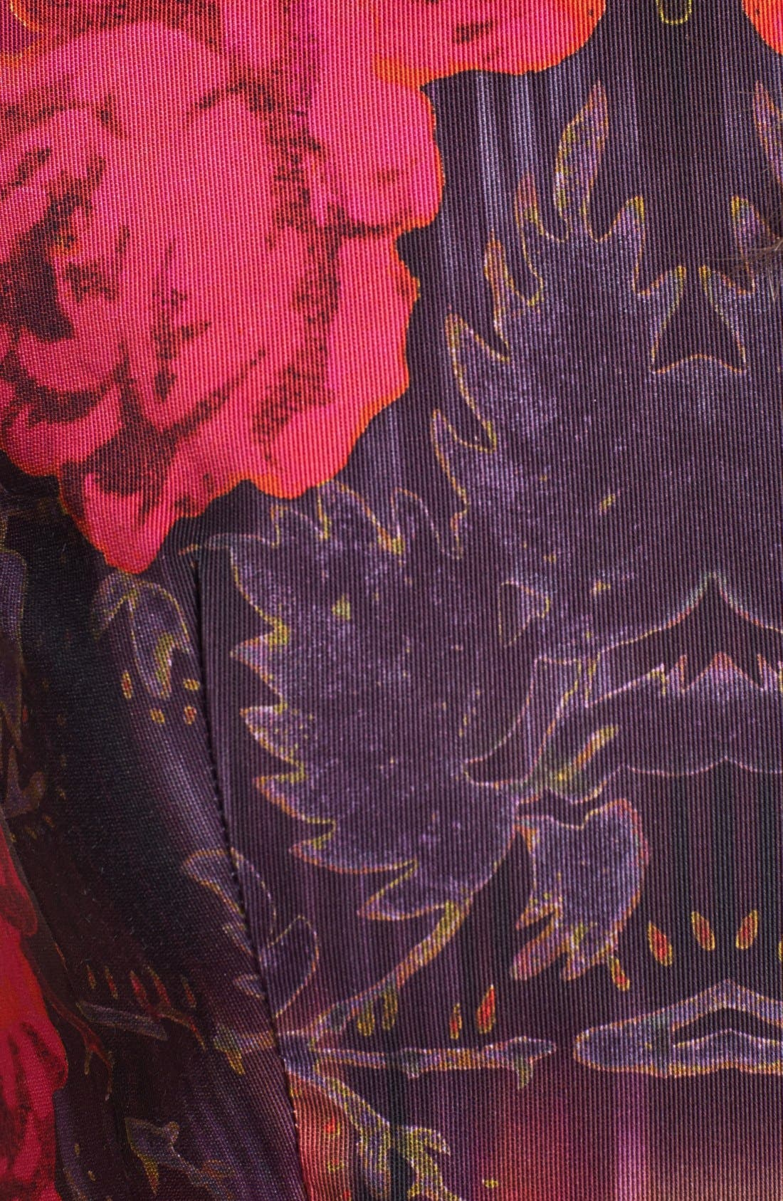 Alternate Image 3  - Nanette Lepore 'Navigator' Leather Trim Print Fit & Flare Dress