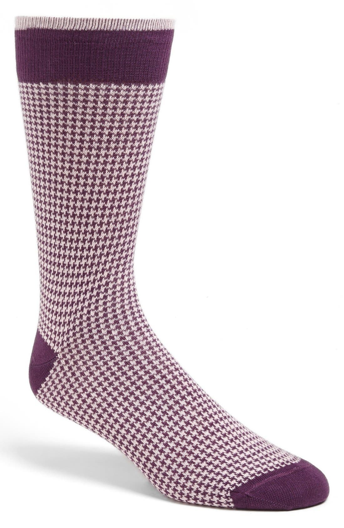 Alternate Image 1 Selected - Lorenzo Uomo Houndstooth Socks