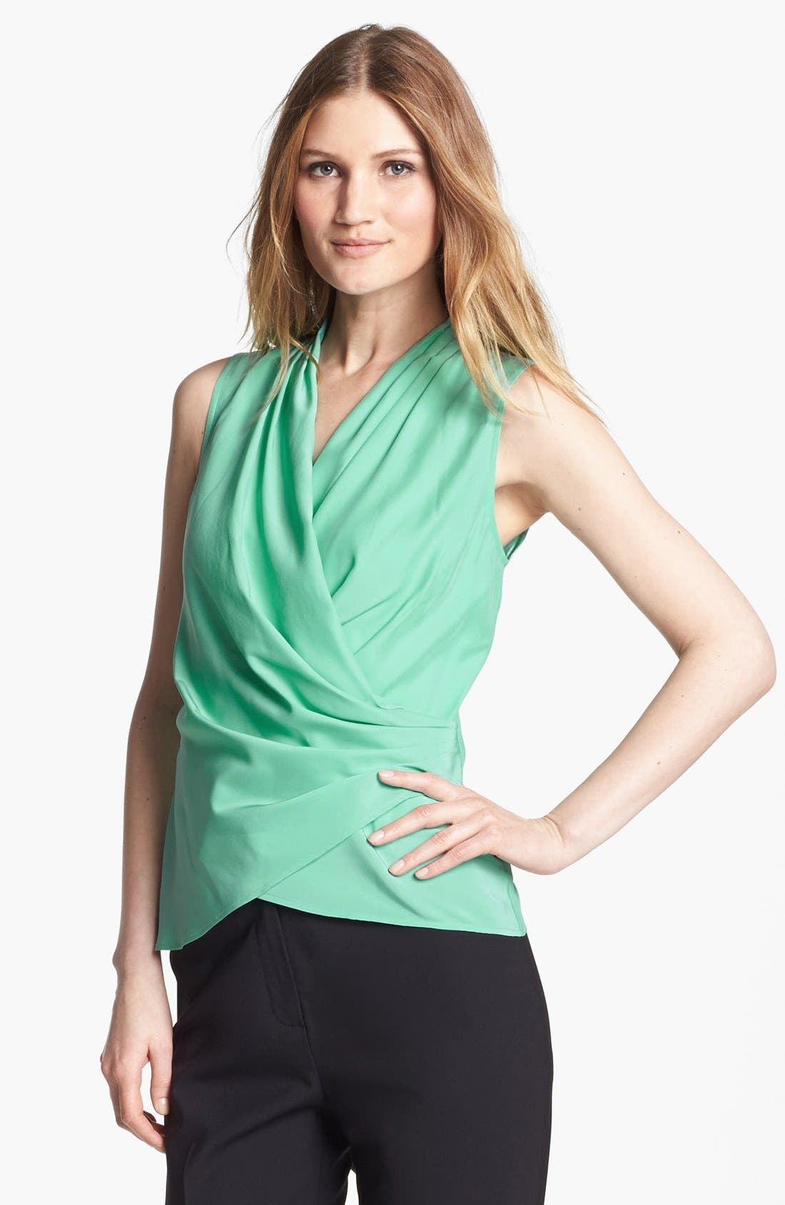 Alternate Image 1 Selected - Lafayette 148 New York 'Syrena' Sleeveless Silk Blouse