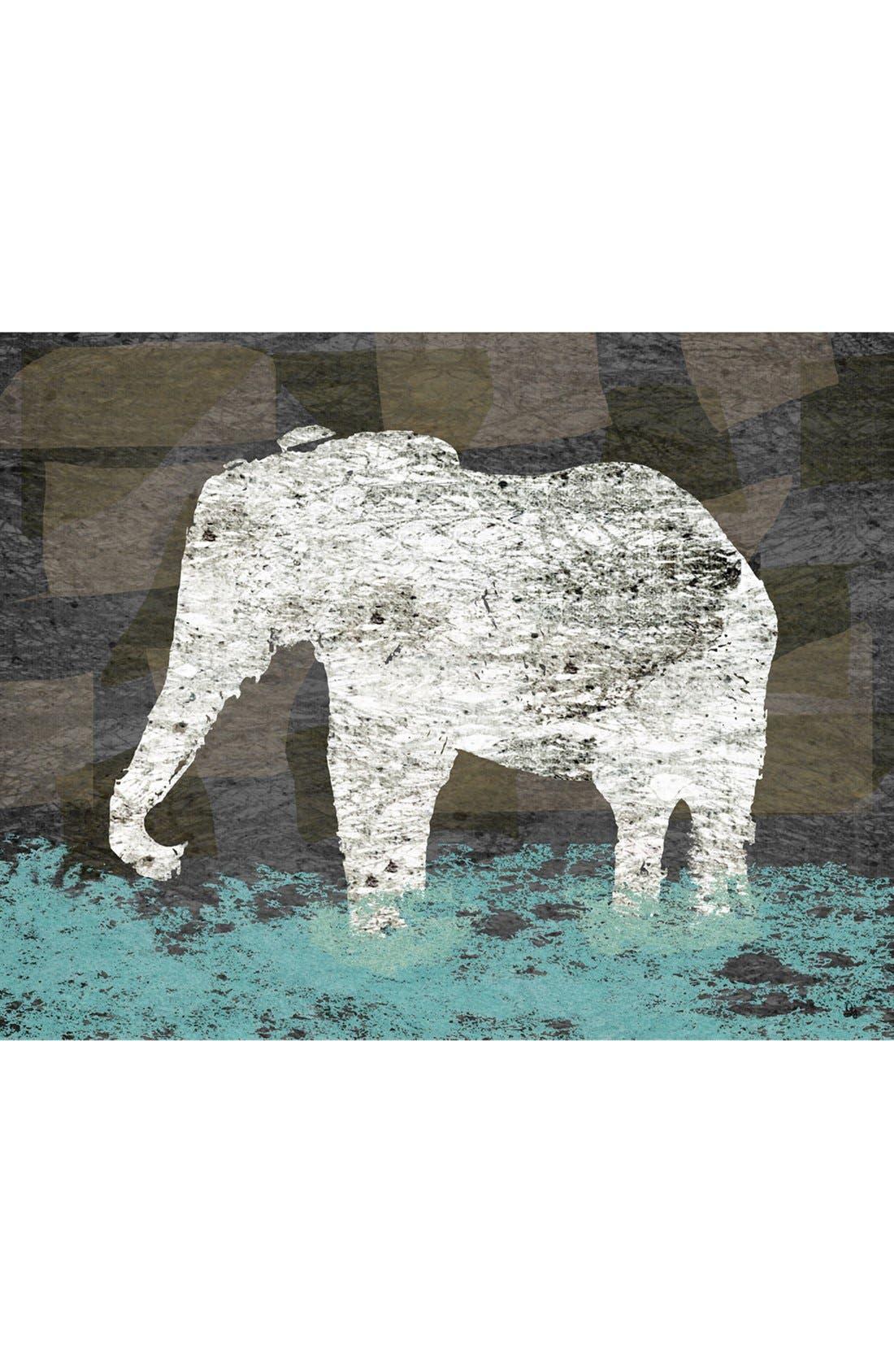 Alternate Image 1 Selected - Green Leaf Art 'Vintage Elephant II' Wall Art